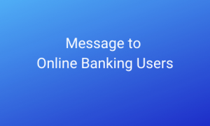 Message to online banking